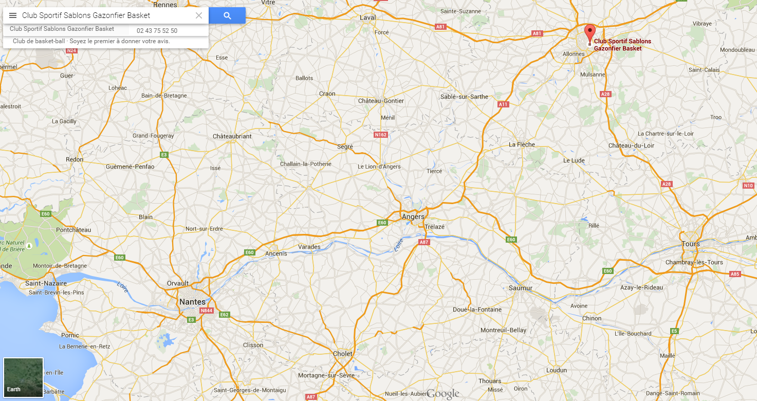 google map région